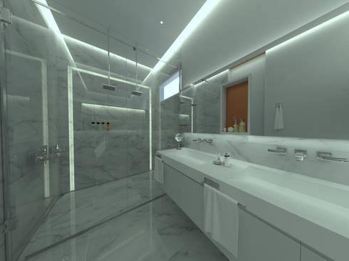 Baño principal: Baños de estilo industrial por D Interior