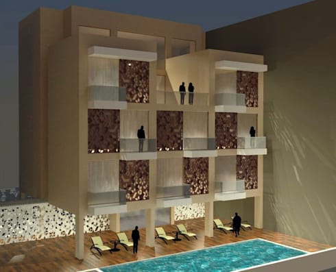 Service Apartments:   by mold design studio