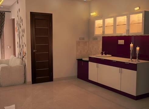 Ahad Euphoria, 2 BHK—Mr. Krishna: modern Dining room by DECOR DREAMS