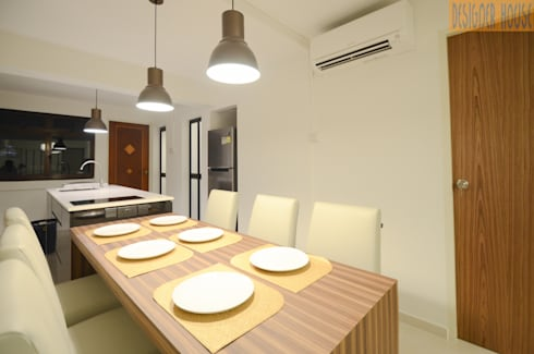 3 Room HDB Flat Knock Out: modern Dining room by Designer House