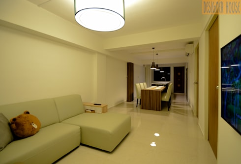 3 Room HDB Flat Knock Out: modern Living room by Designer House
