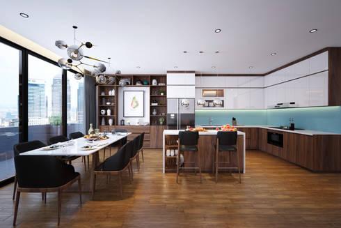 Thiết kế nội thất nhà 7 tầng - Anh Dũng:   by  NỘI THẤT - 86STUDIO