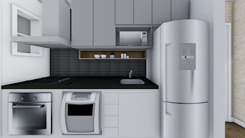 Cozinha: Cozinhas modernas por TR Interiores