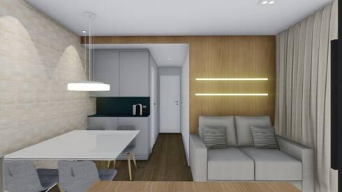 CARANDIRU II: Salas de jantar modernas por TR Interiores