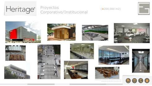 Portafolio Servicios: Estudios y despachos de estilo minimalista por Heritage Design Group