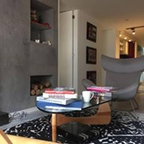 Apartamento Bogota: Salas de estilo minimalista por Heritage Design Group