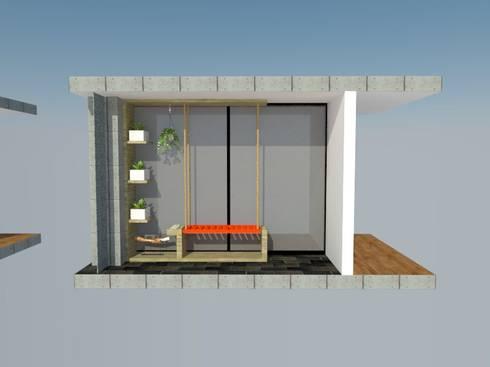 Mueble terraza: Balcones y terrazas de estilo  por Heritage Design Group
