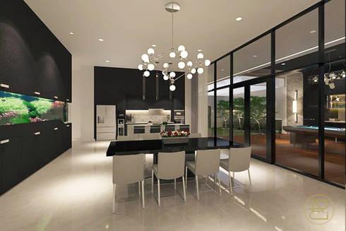 Sun House:  Ruang Makan by Arci Design Studio