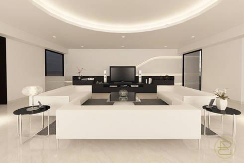 Sun House:  Ruang Keluarga by Arci Design Studio