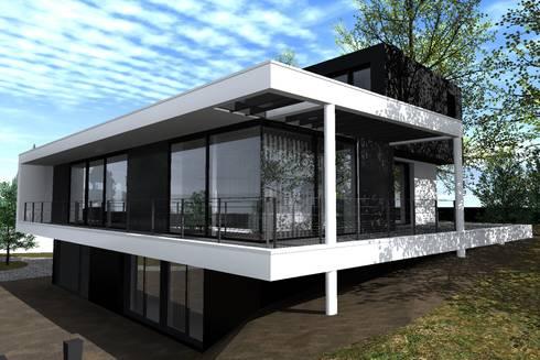 """CASA """"3N"""" Nivel Medio: Casas unifamiliares de estilo  por Dakota Austral"""
