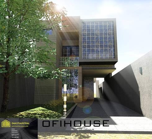 OFIHOUSE: Casas unifamiliares de estilo  por Dakota Austral