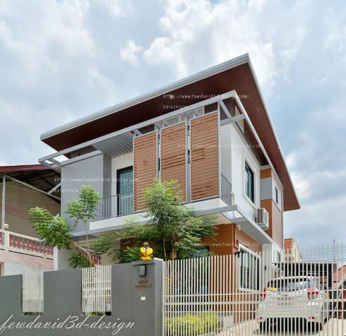 งานออกแบบบ้านพักอาศัย2ชั้น อ.แก่งคอย จ.สระบุรี:   by fewdavid3d-design