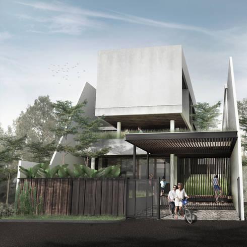 Tampak Depan:   by Spasi Architects