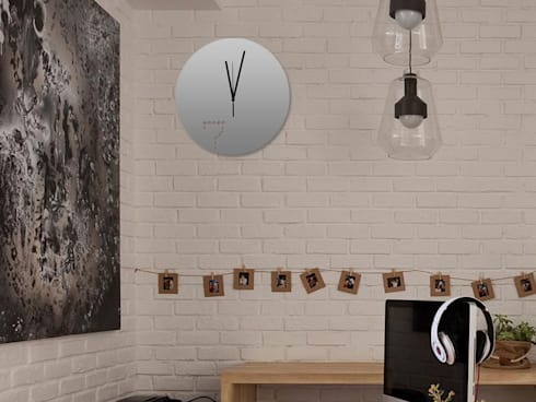 Kairos Dot at Seven Wall Clock: modern Living room by Just For Clocks