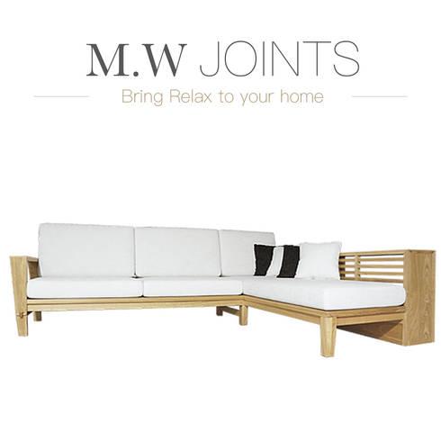 5D伍德系列 北歐L型沙發:  客廳 by M.W JOINTS |罕氏家居