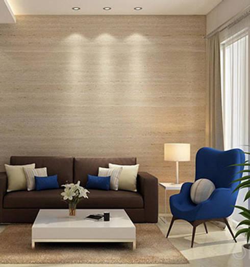 Aryan Villa, Pune: modern Living room by The Sasha Interiology