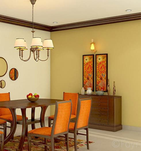 Aryan Villa, Pune: country Dining room by The Sasha Interiology