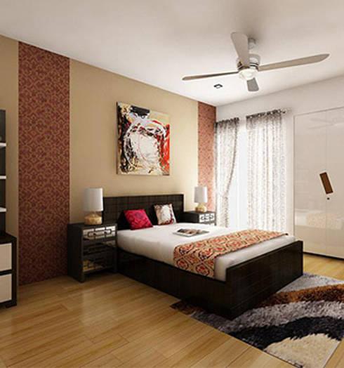 Aryan Villa, Pune: modern Dressing room by The Sasha Interiology