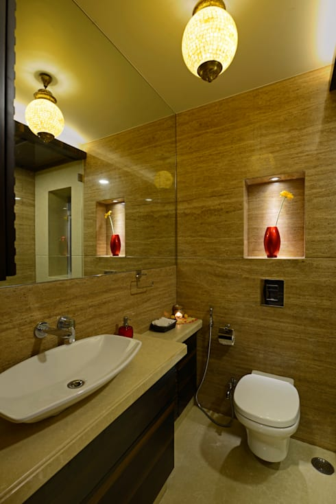 Matunga Apartment:  Bathroom by Fourth Axis Designs