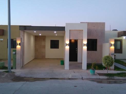 Cochera Casa Habitacion 1 nivel: Casas de estilo moderno por VIBO CONSTRUCTORA