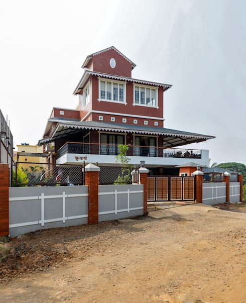 'Krutarth' An industrialist's Bunglow:  Bungalows by Spacecraftt Architects
