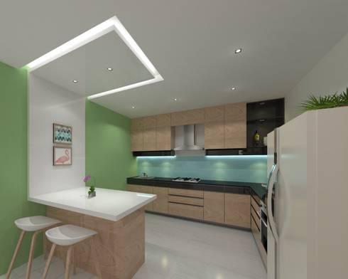 Kitchen:  Built-in kitchens by Ravi Prakash/Architect