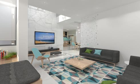 Living Room: minimalistic Living room by Ravi Prakash/Architect