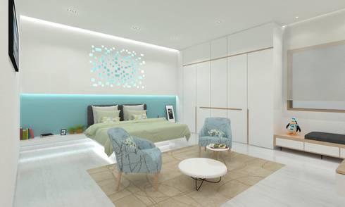 Master Bedroom: minimalistic Bedroom by Ravi Prakash/Architect