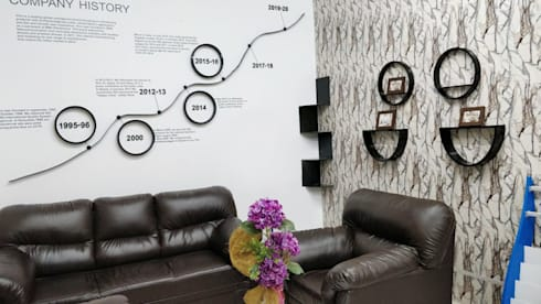 Commercial Interior Designers:  Office buildings by Scale Inch Pvt. Ltd.