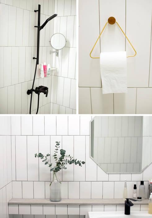 마음이 쉬는 집_ 남양주 호평 금강펜테리움 인테리어: (주)바오미다의  욕실