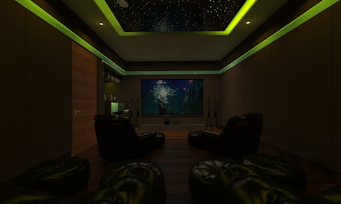 Home Theatre:  Electronics by Ravi Prakash/Architect