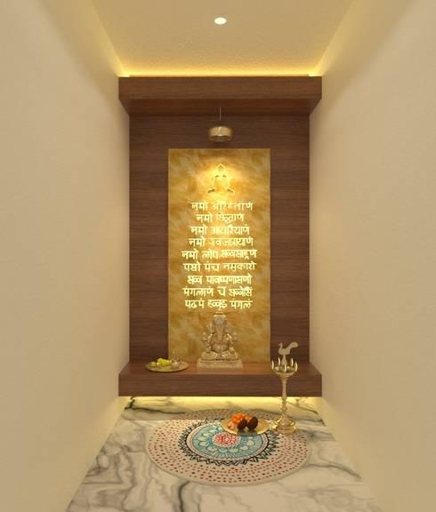 Puja Room:  Corridor & hallway by Ravi Prakash Architect