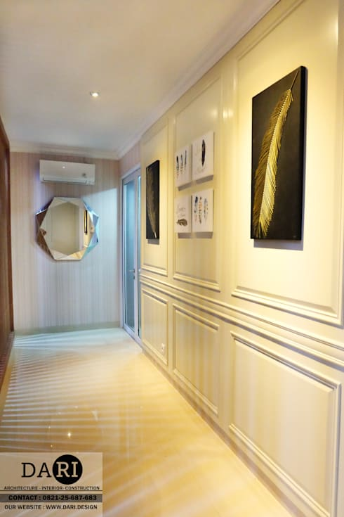 hallway mirror and panel:  Corridor, hallway & stairs by DARI