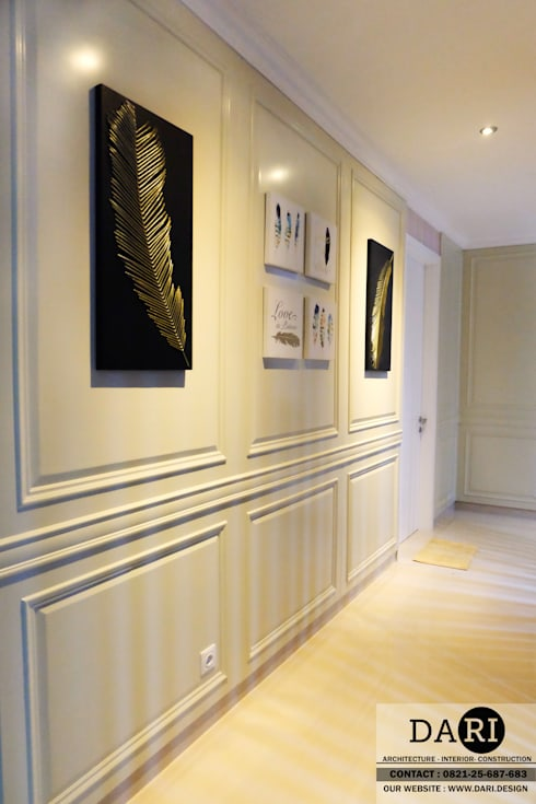 hallway decoration and panel :  Corridor, hallway & stairs by DARI