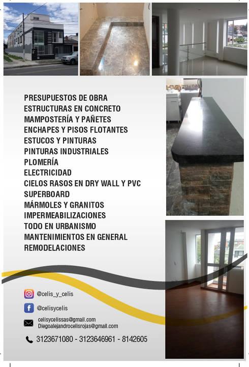 SERVICIOS!!!: Casas de estilo clásico por CELIS & CELIS INGENIEROS CONSTRUCTORES S.A.S