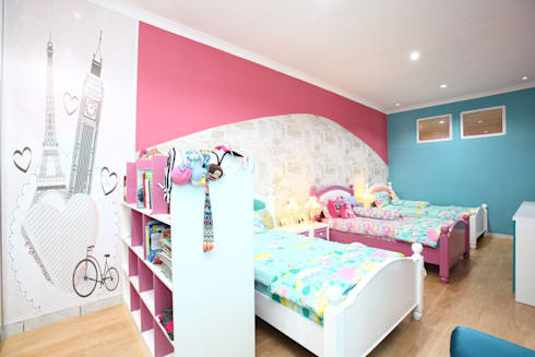 Colourful house : modern Bedroom by a+Plan Architect and Interior Works