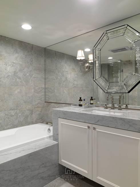 彰化T宅:  浴室 by Ho.space design 和薪室內裝修設計有限公司