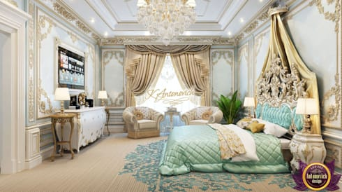 Luxury Master bedrom design of Katrina Antonovich: classic Bedroom by Luxury Antonovich Design