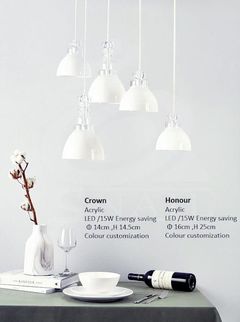 CROWN & HONOUR / PENDANT LIGHT:  家居用品 by KUO YU LIGHTING