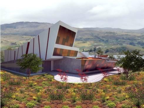 Centro de Convenciones isla de San Pedro de Tota: Casas campestres de estilo  por Coestructural sas