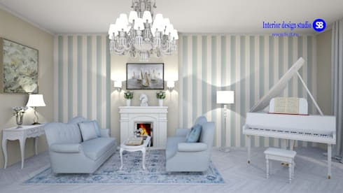 Living room in classic style: classic Living room by 'Design studio S-8'