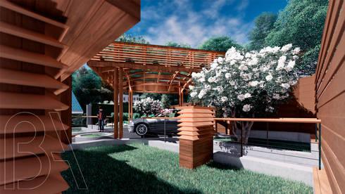 Вилла на море / Twisted house: Tерраса в . Автор – BOOS architects