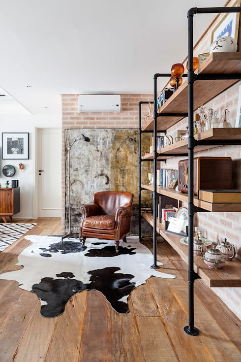 ห้องนั่งเล่น by Kika Tiengo Arquitetura