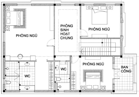 Tư vấn xây biệt thự Pháp 2 tầng trên mảnh đất méo:   by Kiến trúc ASPACE