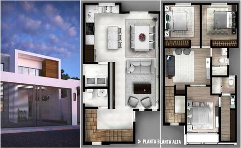 CIENTO30: Villas de estilo  por CDR CONSTRUCTORA