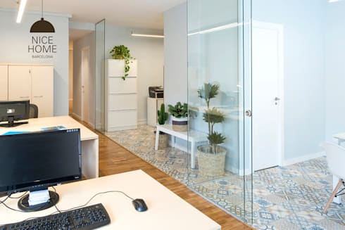 Proyecto oficina sant pau de nice home barcelona homify for Oficina qualitas auto barcelona