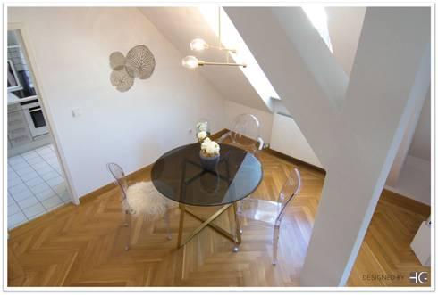 Münchner Home Staging Agentur GESCHKA: Minimal Tarz Tarz Yemek Odası