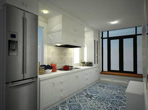 ห้องครัวแบบ contemporary:   by simply fine studio