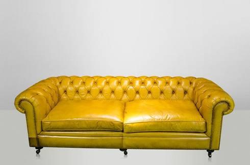 wohnzimmer einrichtung ledersofa gelb von matz m bel homify. Black Bedroom Furniture Sets. Home Design Ideas