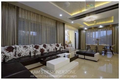 Living Room Interior Design: modern Living room by KAM'S DESIGNER ZONE